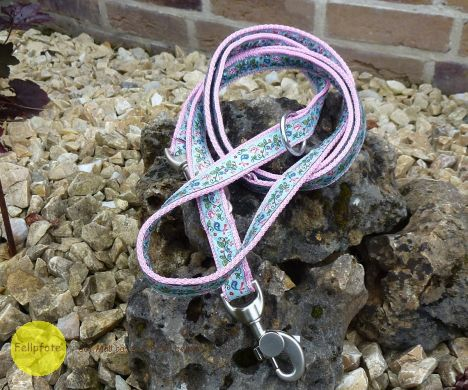 2 Meter Verstell-Leine 2,5 cm breit in vielen Farben mit Borte