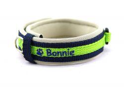 2 cm breit - Premium Halsband bestickt