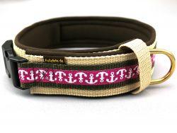 5 cm breit - Premium Halsband mit Borte