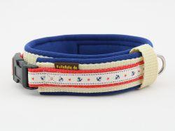 2,5 cm breit - Premium Halsband mit Borte