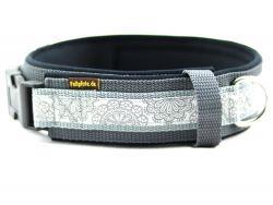 4 cm breit - Premium Halsband mit Borte