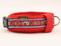 3 cm breit - Premium Halsband mit Borte