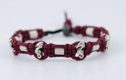 Schmuckkette mit EM Keramik Pipes - Beads Seepferdchen 40-42 cm