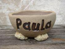 Hundenapf Paula - mit dem Namen Ihres Hundes - in 4 Größen