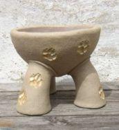 Hundenapf Kalle - beige Pfoten - in 4 Größen