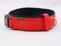 4 cm breit - Premium Halsband uni