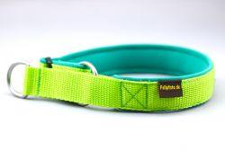 2,5 cm breit - Zug-Stop Halsband uni