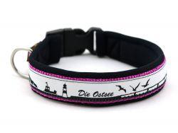 3 cm breit - Classic Halsband mit Borte
