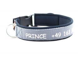 3 cm breit - Classic Halsband bestickt